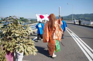 平成29年淀姫神社例大祭 松浦バイパスを突き進みます
