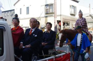 平成29年淀姫神社例大祭 淀姫神社宮司と関係者と射手