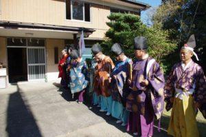 平成29年淀姫神社例大祭 手水が終わり整列しました