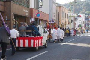 平成29年淀姫神社例大祭 御神幸式で町内を巡ります