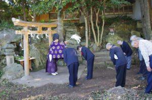 平成29年淀姫神社例大祭岩屋祭り 斎主は中山宮司さん