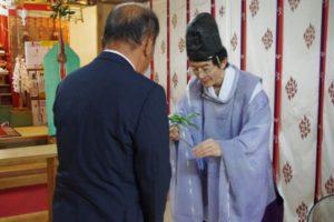 平成30年夏越祭 総代会長玉串拝礼