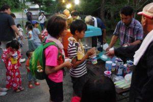 平成30年七夕祭り かき氷や綿菓子を提供していただきました
