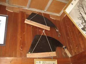 銀杏を伐採した際に使用された鋸