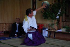 平成31年山祗神社秋祭り 平戸神楽「折敷」の舞い