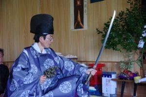 平成31年山祗神社秋祭り 平戸神楽「所堅」の舞い