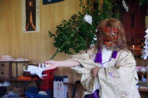 平成31年山祗神社秋祭り 平戸神楽「山の神」の舞い