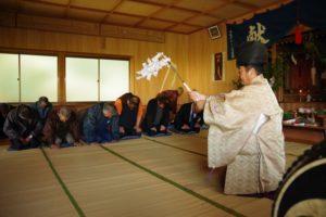 平成30年西山地区山祗神社秋祭り 「修祓」の儀