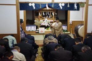 白浜地区白濱神社秋祭りにて 「修祓」の儀